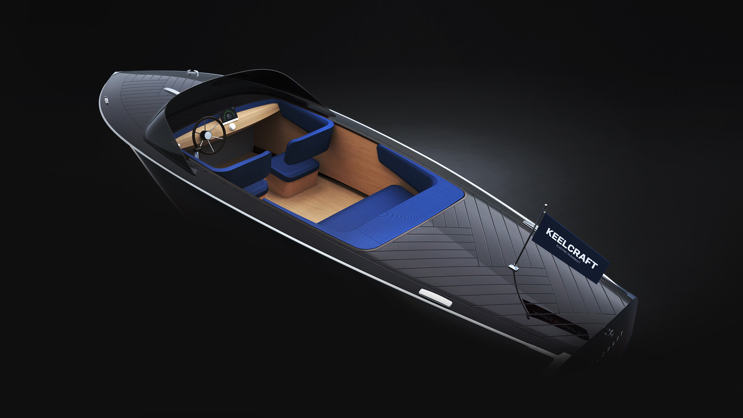 KeelCraft electric runabout 3D view